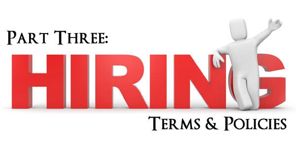 Hiring – Terms & Policies